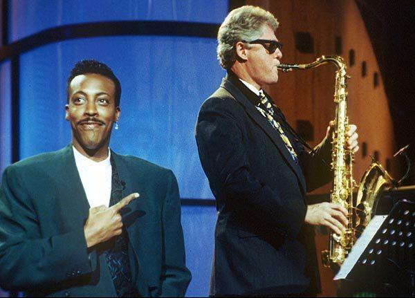 Arsenio Hall's best television moments: In a memorable moment from the 1992 presidential campaign, Bill Clinton, then governor of Arkansas and Democratic candidate, plays Heartbreak Hotel on saxophone during The Arsenio Hall Show on June 3, 1992, the day after he defeated Jerry Brown in the California Democratic presidential primary. That mornings Los Angeles Times reported that Clinton had clinched his partys nomination.