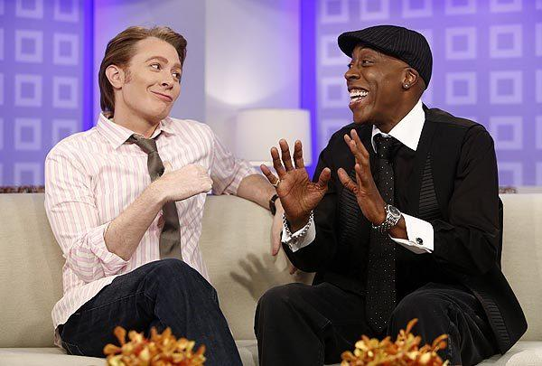 "Clay Aiken and Arsenio Hall appear on NBC's ""Today"" show."