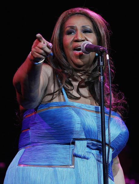 Aretha Franklin performs at Radio City Music Hall on Feb. 17 in New York City.