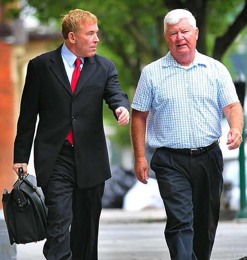 Shirley arrives at court