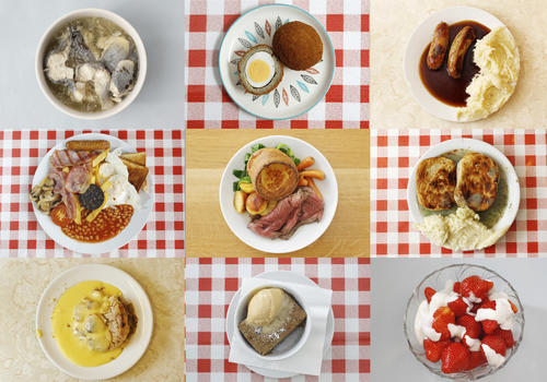 A menu of oddly named and sometimes oddly tasting traditional British dishes awaits adventurous diners visiting London for the Olympic Games this summer.