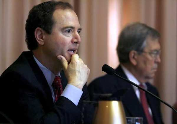 Rep. Adam Schiff, at a hearing on windstorm response issues in Pasadena, earlier this year.