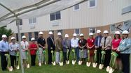Ground was broken Monday morning for a 2,100-square-foot expansion at Meadow View Nursing Center.