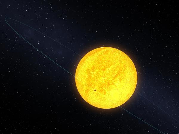 """Kepler-10b orbits one of the 150,000 stars that the spacecraft is monitoring between the constellations of Cygnus and Lyra. The star itself is very similar to our own sun in temperature, mass and size, but older with an age of over 8 billion years, compared to the 4-and-1/2 billion years of our own sun. The star's about 560 light years from our solar system and one of the brighter stars that Kepler is monitoring. The diameter of Kepler-10b is only about 1.4 times the diameter of Earth and it's mass is about 4.5 times that of Earth. It is the best example of a rocky planet to date.""<br><br><b>View more:</b> <a class=""emailLink"" href=""http://www.nasa.gov/mission_pages/kepler/multimedia/images/index.html"" target=""new"">Kepler spacecraft images at NASA.gov »</a><br><br><b>Read more:</b> <a class=""emailLink"" href=""http://www.pasadenasun.com/news/jpl/tn-pas-0621-astronomers-find-unlikely-pair-of-planets-orbiting-distant-star,0,4383262.story"">Kepler finds unlikely pair of planets orbiting distant star »</a>"