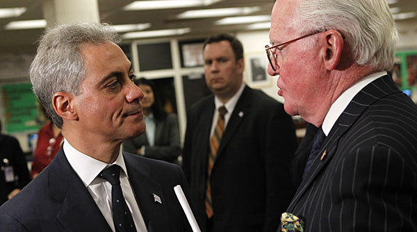 Mayor Rahm Emanuel, left and Chicago Ald. Ed Burke earlier this year.