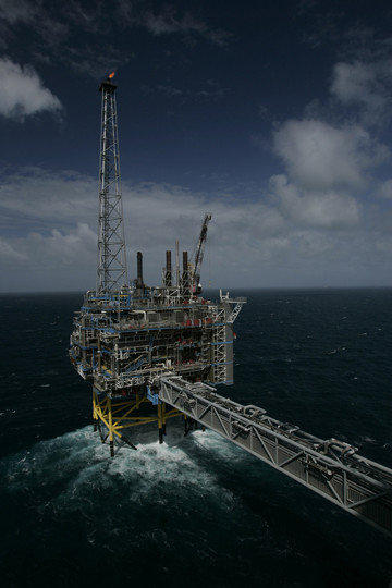 Carbon storage tower in the North Sea