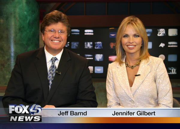 A screengrab of WBFF anchors Jeff Barnd and Jennifer Gilbert