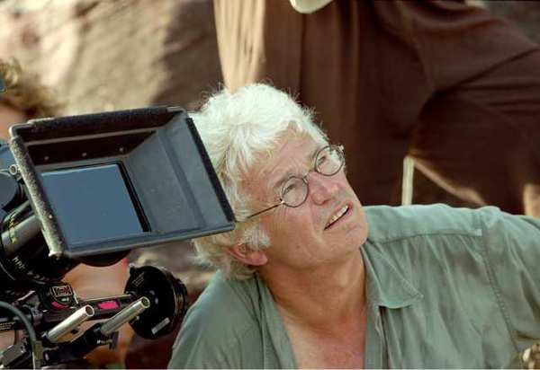 "Photos: Jean-Jacques Annaud on the set of his family adventure ""Two Brothers"" in 2004."