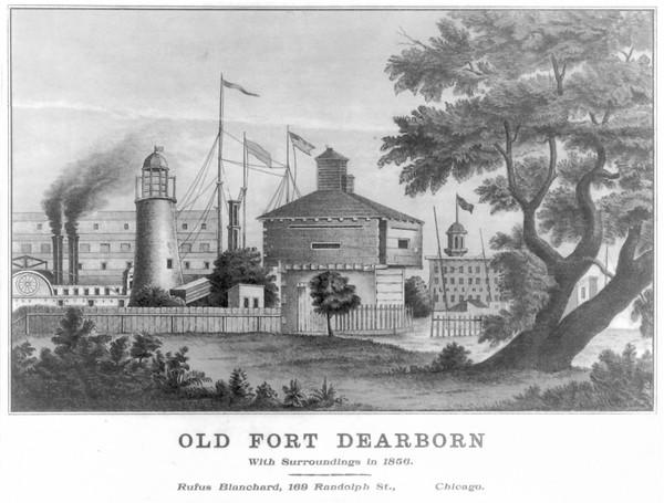 During the War of 1812, dozens were killed evacuating Fort Dearborn, above, in what is now Chicago.