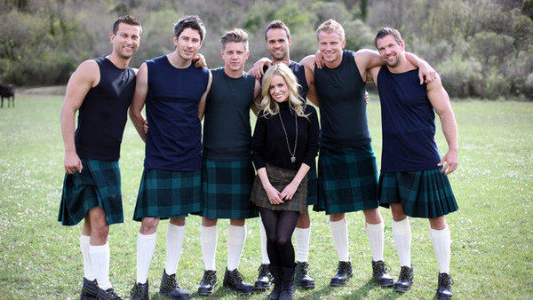 """The Bachelorette"" star Emily Maynard poses with her remaining suitors in Croatia."