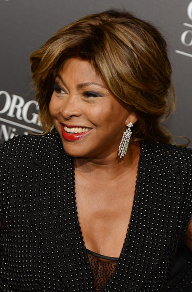Tina Turner arrives at the Giorgio Armani fashion show in Beijing on May 31.