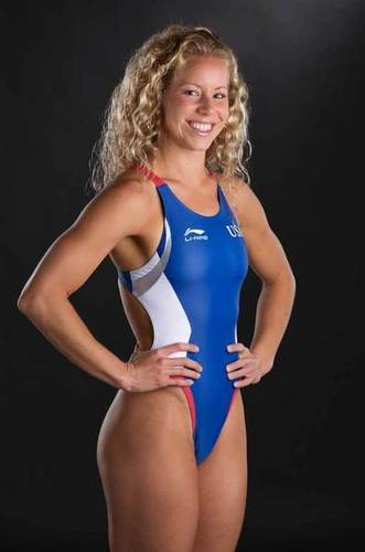 Team USA women's diver Brittany Viola  during a portrait session at the 2012 Team USA Media Summit at the Hilton Anatole.