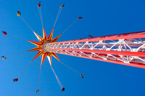 The once-famed Steel Pier on the long-faded Atlantic City Boardwalk will invest more than $100 million on new entertainment venues and amusement rides, including a 385-foot-tall Funtime Star Flyer dubbed the tallest swing tower in the world.