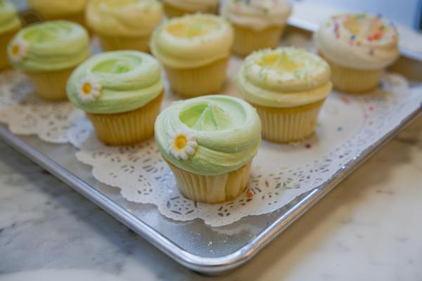 Magnolia Bakery's signature pastel cupcakes