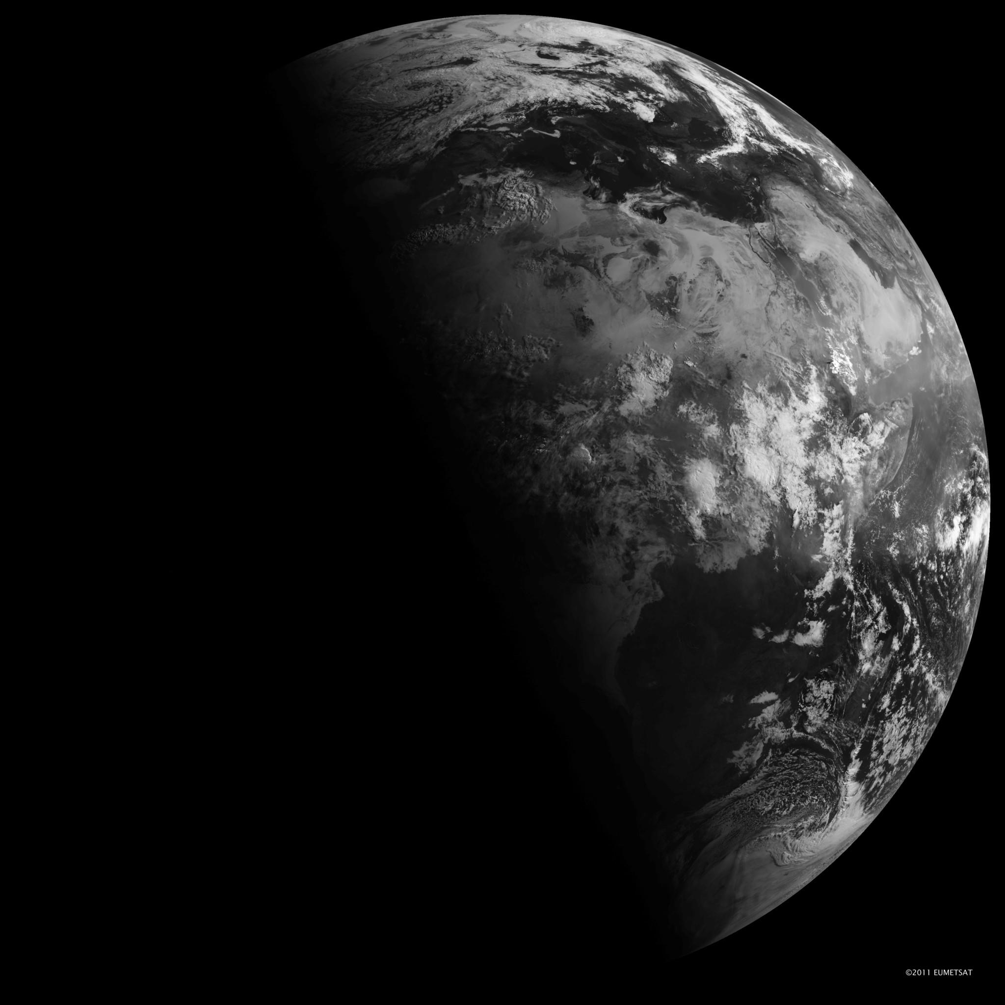 Earth, as seen from space on the summer solstice.