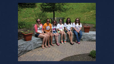 Girl Scout Cadette Troop 40976 and Senior Troop 40921 are from left: Madison Polacek, Alaina Bowser, Danielle McLaughlin, Hannah Salamon, Samantha LaPorta and Cassidy Polacek.
