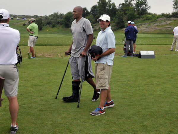 Ray Allen will not be playing in the 2012 Travelers Championship Pro-Am after having surgery on his right leg after the NBA Eastern Conference palayoffs. Allen was on hand at the practice tee on crutches as tour players began to arrive and take in some practice rounds before the start of the tournament in Cromwell Thursday.