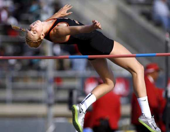 South Pasasadena High's Claire Kieffer-Wright just misses qualifying to U.S. Olympic Trials Saturday at the USATF Southern California Assn. Masters Championships at Caltech University.