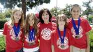 Three of Burbank's five math teams received medals after competing in the Mathematics Field Day on June 2 at Wilson Middle School in Glendale. They will be honored during the Burbank Unified School District board meeting at 6 p.m. Thursday at Burbank City Hall.