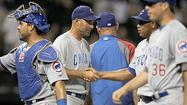 <strong>Cubs starting pitcher Travis Wood</strong> wants home plate umpire C.B. Bucknor to know there's an inside corner.