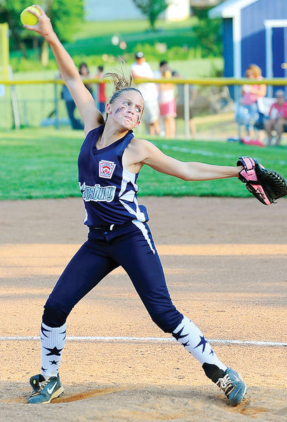 Sharpsburg's Peyton Smith allowed four hits and struck out eight in Tuesday's win over Halfway.