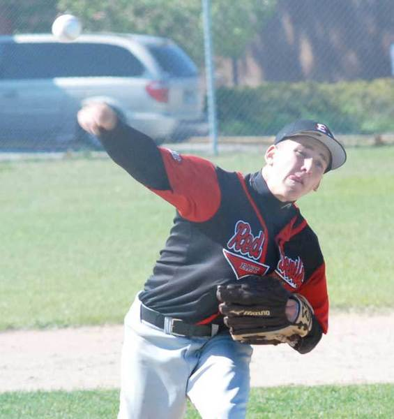 Jordan Harasewicz helped lead East Jordan to a share of the Lake Michigan Conference baseball championship this season. He is one of four Red Devils named to the all-league first-team in baseball.