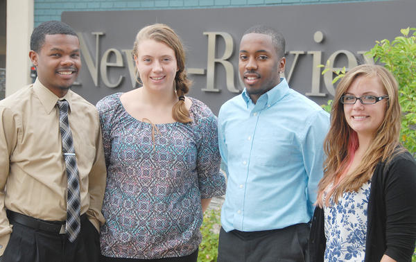 Jeremy Smith, Emily White, Jonathan Alexander and Alexandra Crouse are interns at the News-Review this summer.