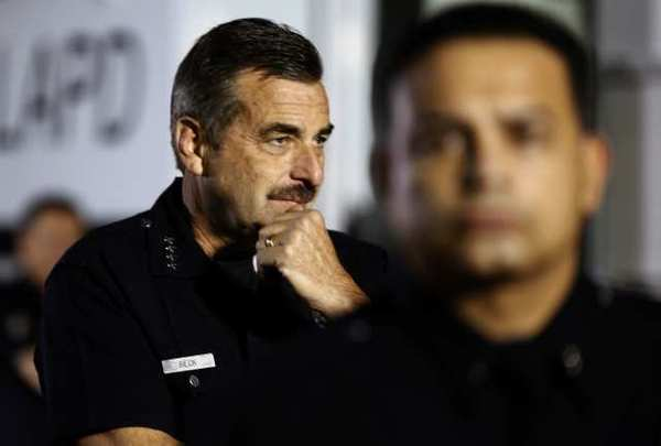 LAPD Police Chief Charlie Beck is seen on Nov. 30, 2011.
