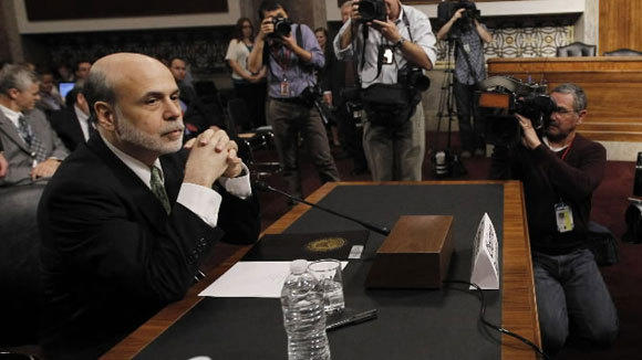 Federal Reserve Chairman Ben Bernanke testifies at a Joint Economic Committee hearing this month.