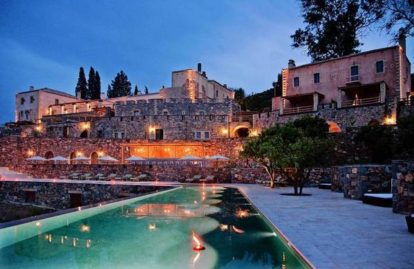 The Kinsterna Hotel & Spa, which sits above Monemvasia, Greece, went from ruin to chic vacation spot.