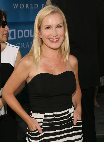 "Actress Angela Kinsey arrives at the ""Brave"" premiere."