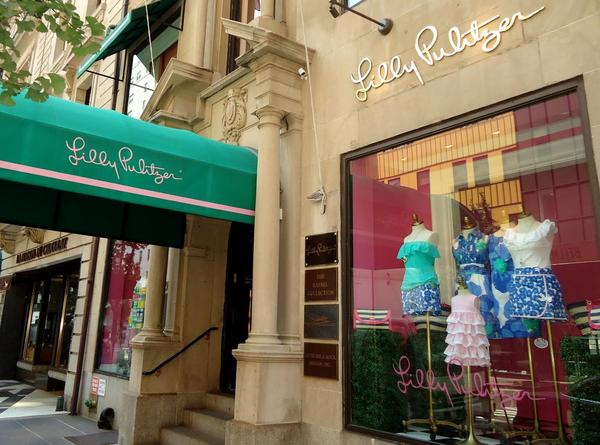 Lilly Pulitzer is opening a store in Towson Town Center's luxury wing this summer. Pulitzer's New York City store is shown above.