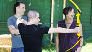 RedEye's Matt Pais shoots archery with 'Brave' director Mark Andrews and producer Katherine Sarafian