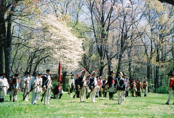The Brigade of the American Revolution will celebrate the re-enactment group's 50th anniversary Saturday, June 23, and Sunday, 24, at Fort Frederick State Park near Big Pool.