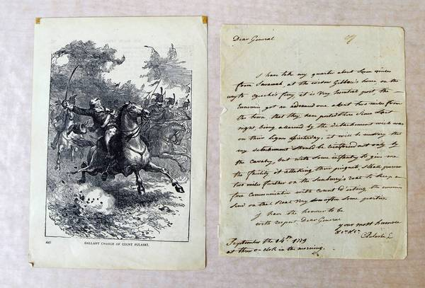 A document created by Revolutionary War hero Casimir Pulaski, which was among the roughly 120 stolen artifacts that were returned to the Polish Museum of America in Chicago, was on display Wednesday at the FBI's Chicago office.