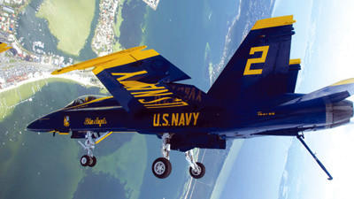 The F/A-18 Hornet will be featured during the world-renowned Blue Angels aerial show this weekend at the Arnold Palmer Regional Airport in Latrobe. The fighter jet has a top end speed of Mach 1.8 and is known for its precise maneuvering.