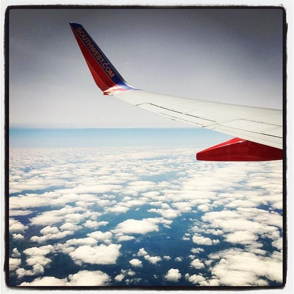 Instagram shot from the air between Baltimore and Portland last week.