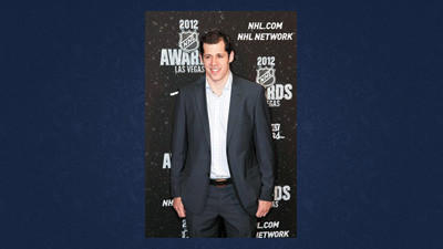 Pittsburgh Penguins' Evgeni Malkin poses for a photo before the start of the NHL Awards on Wednesday in Las Vegas. Malkin won the Hart Trophy as the NHL's most valuable player.
