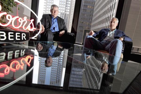 Cavalry CEO Marty Stock, left, and George Rogers, global business development director for parent company WPP, are leading the new Chicago agency's work advertising Coors beers.