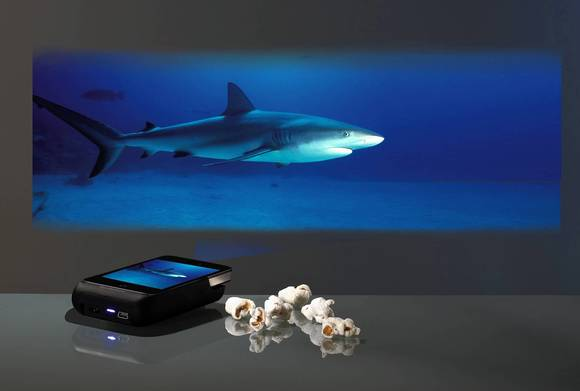 Brookstone DLPPicoi iPhone sleeve pocket projector for iPhone 4