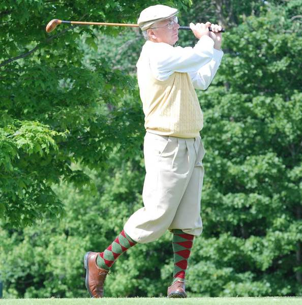 Golfers wearing period garb and playing with hickory-shafted clubs will partake in the 7th annual Hickory Open this weekend at Belvedere Golf Club in Charlevoix.