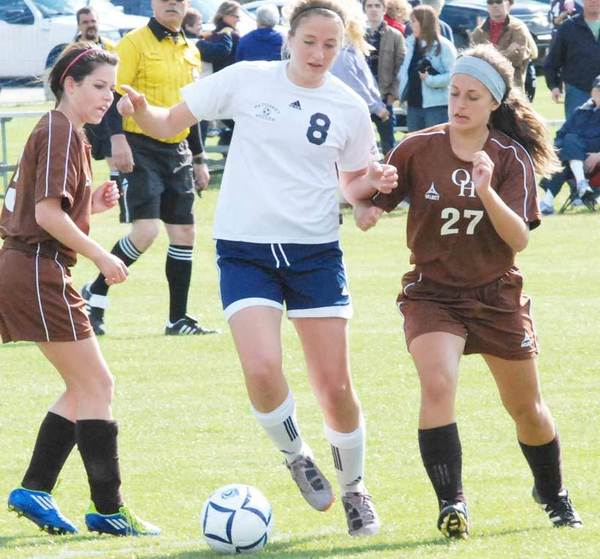 Petoskey senior Gabbi Vandenbrink (8) was named to the Division II All-State girls soccer first-team.