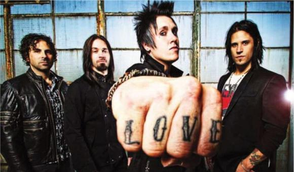 Jacoby Shaddix, third from left, the front man for Papa Roach, says Tuesday¿s show will be an ¿off-the-chain, energetic, exciting, fun, liberating, rock ¿n¿ roll party.¿ Courtesy photo