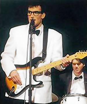 Jeff Boxell, a teacher in Chaska, Minn., will do a tribute to Buddy Holly June 30 in Ellendale, N.D. Courtesy photo