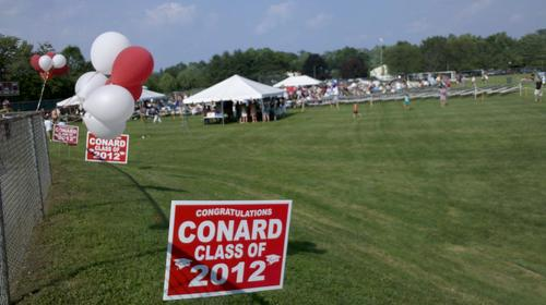 Conard High School held its graduation ceremony Wednesday.