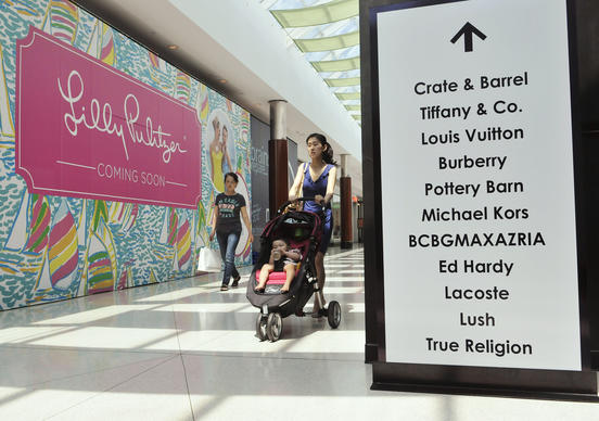 Lilly Pulitzer is opening a store in Towson Town Center's luxury wing this summer.