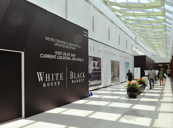 The women's clothing store White House Black Market plans to move from the main mall area to a larger store inside Towson Town Center's luxury wing.