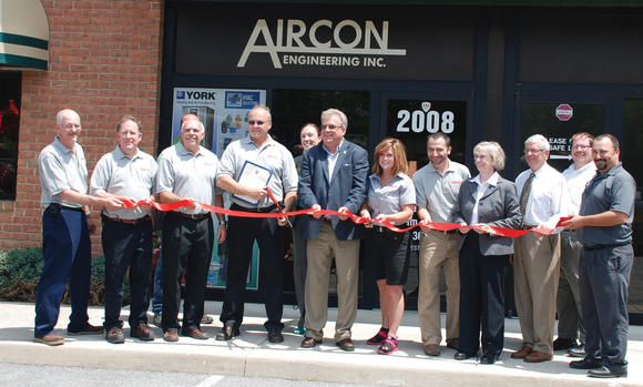 Aircon ribbon-cutting