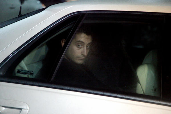Mario Casciaro leaves the McHenry County Government Center in Woodstock during his first trial in January 2012.