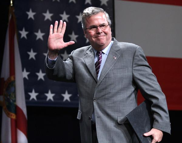 Former Florida governor Jeb Bush addresses  attendees at the National Association of Latino Elected and Appointed Officials conference, Thursday, June 21, 2012, at the Contemporary Resort at Walt Disney World, in Lake Buena Vista, Fla.
